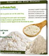 Rice Protein And Arsenic Canvas Print