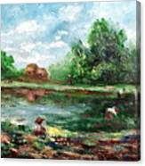 Ricefield Canvas Print