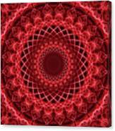 Rich Red Mandala Canvas Print