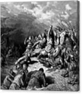 Richard I The Lionheart Delivering Jaffa 1877 Canvas Print