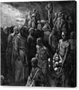 Richard I The Lionheart Massacres Captives In Reprisal 1877 Canvas Print