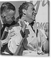 Richard Nixon Laughing Canvas Print
