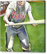 Richie Ashburn Topps Canvas Print