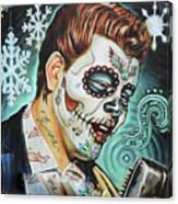Richie Valens Day Of The Dead Canvas Print