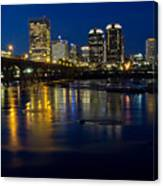 Richmond Night Skyline Canvas Print