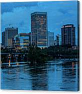 Richmond Skyline At Nightfall 11908t Canvas Print