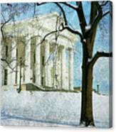 Richmond Virginia Capitol In Snow Canvas Print
