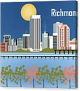 Richmond Virginia Horizontal Skyline Canvas Print
