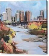 Richmond Virginia Skyline In Autumn Canvas Print