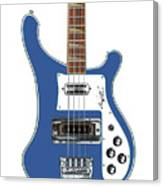 Rickenbacker Bass 4001 Body  Canvas Print