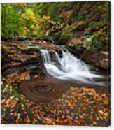 Ricketts Glen State Park Pennsylvania Autumn Waterfall Scenic Canvas Print