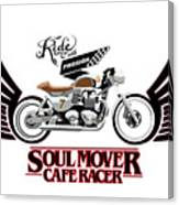 Ride With Passion Cafe Racer Canvas Print