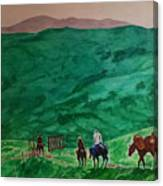 Riders In The Andes Canvas Print