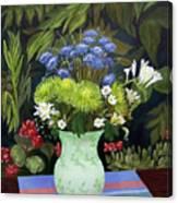 Ridge Lane Green Vase Canvas Print