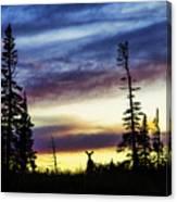 Ridge Sihouette Canvas Print