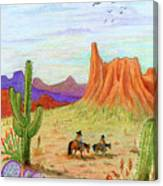 Ridin' The Range Canvas Print