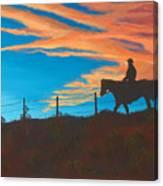 Riding Fence Canvas Print