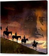 Riding Into Eternity Canvas Print