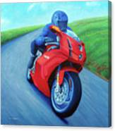 Riding The Highlands - Ducati 999 Canvas Print