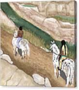 Riding The Ridge Canvas Print