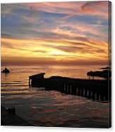 Riding The Sunset Canvas Print