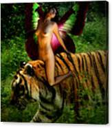 Riding The Tiger Canvas Print