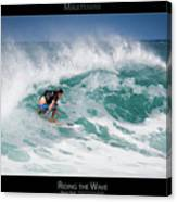 Riding The Wave - Maui Hawaii Posters Series Canvas Print