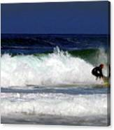 Riding The Waves At Asilomar State Beach Four Canvas Print