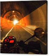Riding Through One Of The Many Tunnels In The Italian Alps Canvas Print