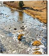 Riffles In The River Canvas Print