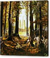 Riflemen At Saratoga Canvas Print