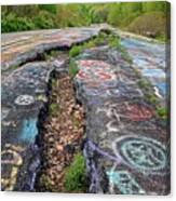 Rift In The Former Route 61 Canvas Print