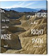 Right Path Canvas Print