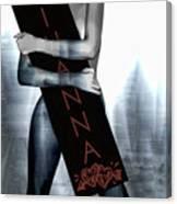 Rihanna Love Card By Gbs Canvas Print