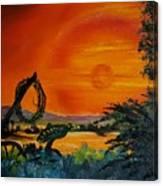 Rim Of Fire     72 Canvas Print