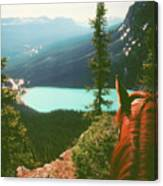 Rim-riding O'er The Canadian Rockies Canvas Print