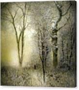 Rimy Forest Windy Daybreak By Laszlo Mednyanszky 1896 Canvas Print