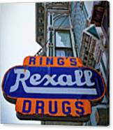Ring's Rexall Drugs  Canvas Print