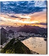 Rio De Janeiro Sunset Canvas Print