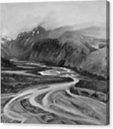 Rio De Las Vueltas In B And W Canvas Print