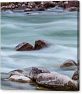 Rio Grande Flow Through Stones Canvas Print