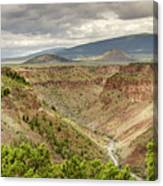 Rio Grande Gorge At Wild Rivers Recreation Area Canvas Print