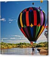 Rio Grande Splash Down, New Mexico Canvas Print
