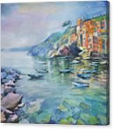 Riomaggiore Cinque Terre Italy Canvas Print