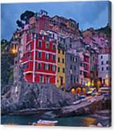 Riomaggiore In Cinque Terre Italy Painterly Canvas Print