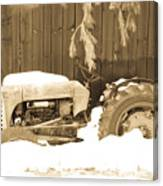 Rip Old Oliver Tractor Canvas Print