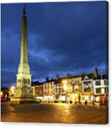 Ripon Market Place At Dusk Canvas Print