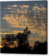Ripple Clouds At Sunset Canvas Print