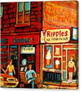 Ripples Ice Cream Factory Canvas Print