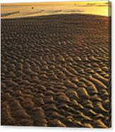 Ripples In The Sand Low Tide Golden Sunset Canvas Print